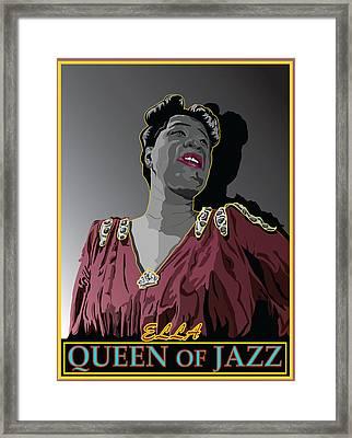 Ella Fitzgerald Jazz Singer Framed Print by Larry Butterworth