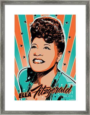 Ella Fitzgerald Pop Art Framed Print by Jim Zahniser