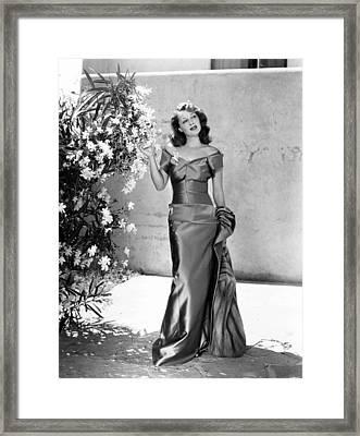 Ellen Drew, Ca. Late 1940s Framed Print by Everett