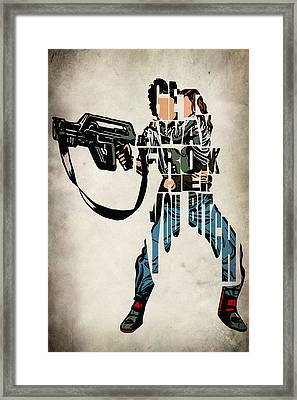 Ellen Ripley From Alien Framed Print by Ayse Deniz