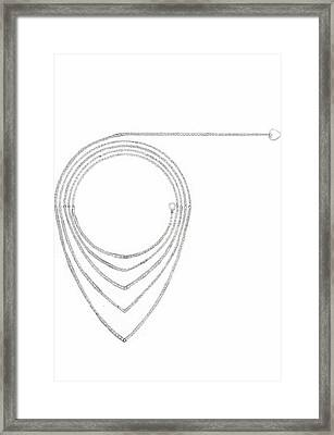 Ellipse Heart Necklace Framed Print by Giuliano Capogrossi Colognesi