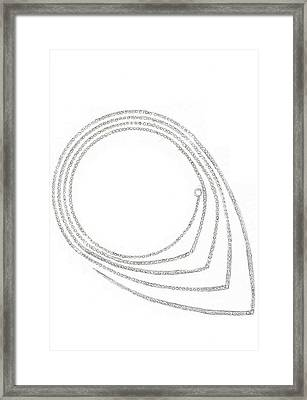 Ellipse Necklace Framed Print by Giuliano Capogrossi Colognesi
