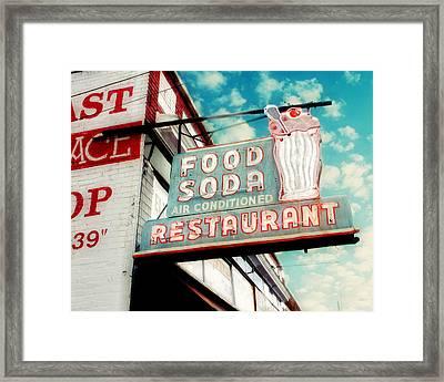 Elliston Place Soda Shop Framed Print by Amy Tyler