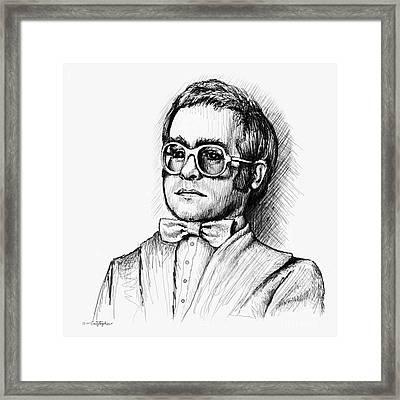 Elton  Framed Print by Cristophers Dream Artistry