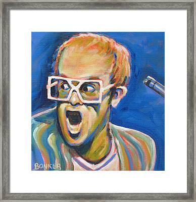 Elton John Framed Print by Buffalo Bonker