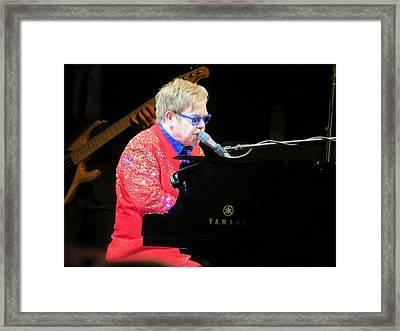 Elton John Live Framed Print by Aaron Martens