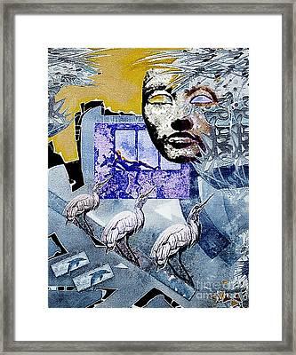 Elusive Gray Dream Framed Print by Hartmut Jager