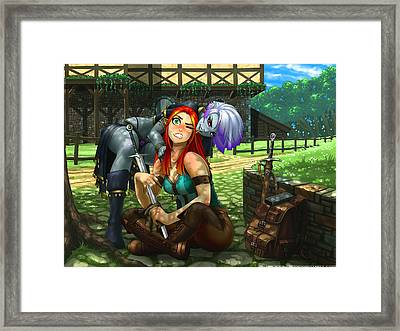 Elven Love Bite Framed Print by Ray Cornwell