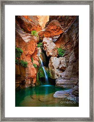 Elves Chasm Framed Print by Inge Johnsson