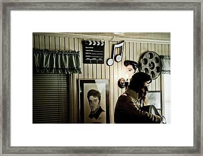 Elvis At Peggy's Framed Print by Ellen and Udo Klinkel