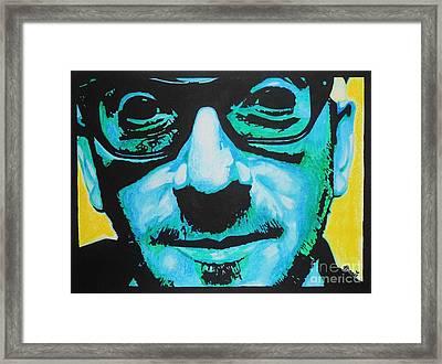 Elvis Costello Framed Print by Bonnie Cushman
