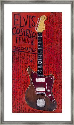 Elvis Costello Jazzmaster Framed Print by Karl Haglund