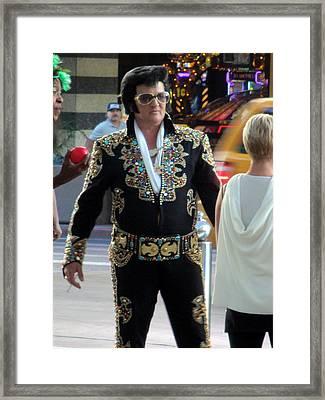 Elvis Impersonator  Framed Print by Kay Novy