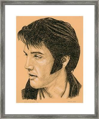Elvis Las Vegas 69 Framed Print by Rob De Vries