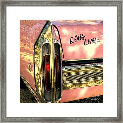 Elvis Lives Framed Print by Joe Jake Pratt