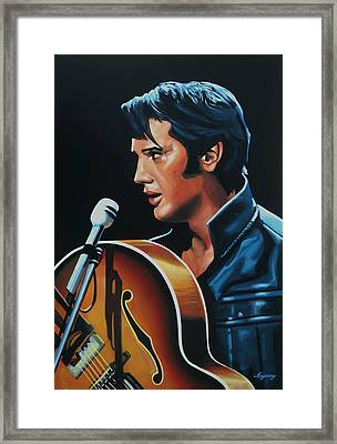 Elvis Presley 3 Painting Framed Print by Paul Meijering
