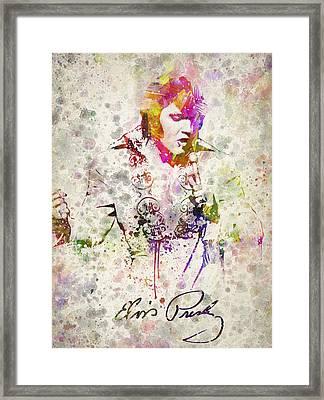 Elvis Presley Framed Print by Aged Pixel
