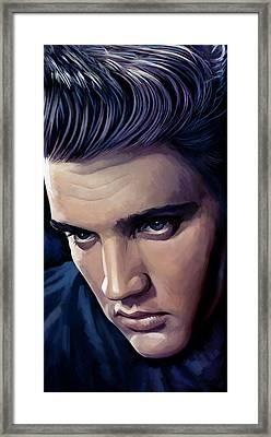 Elvis Presley Artwork 2 Framed Print by Sheraz A