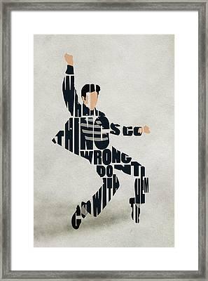 Elvis Presley Framed Print by Ayse Deniz