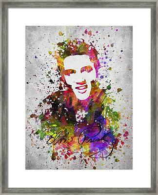 Elvis Presley In Color Framed Print by Aged Pixel