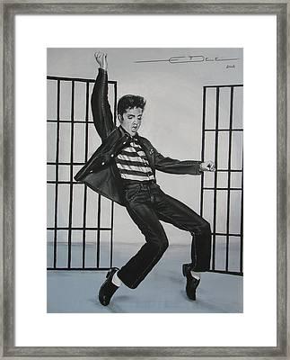 Elvis Presley Jailhouse Rock Framed Print by Eric Dee