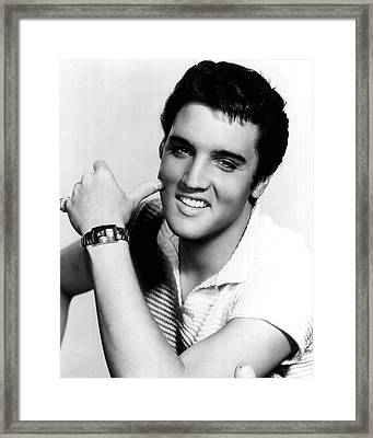 Elvis Presley Looking Casual Framed Print by Retro Images Archive