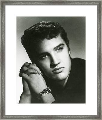 Elvis Presley Looking Thoughtfully Framed Print by Retro Images Archive