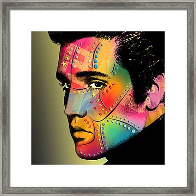 Elvis Presley Framed Print by Mark Ashkenazi