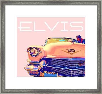 Elvis Presley Pink Cadillac Framed Print by Edward Fielding