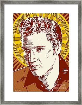 Elvis Presley Pop Art Framed Print by Jim Zahniser