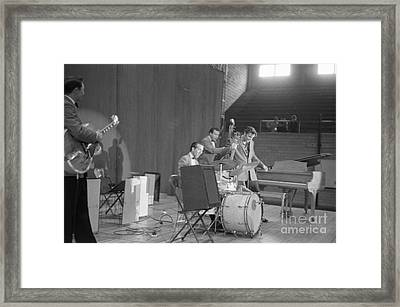 Elvis Presley Scotty Moore D.j. Fontana And Bill Black 1956 Framed Print by The Phillip Harrington Collection