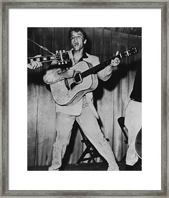 Elvis Presley  Framed Print by Retro Images Archive