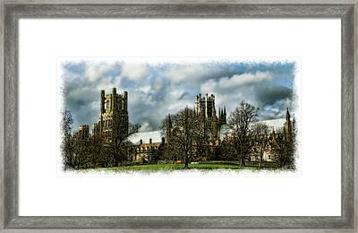 Ely Cathedral In Watercolors Framed Print by Joanna Madloch