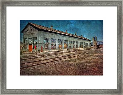 Ely Nevada Trainstation Framed Print by Gunter Nezhoda