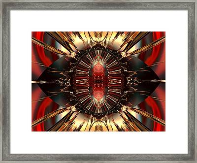 Emanations From The Inner Core Framed Print by Claude McCoy