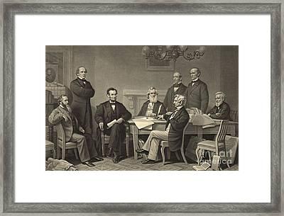 Emancipation Proclamation 1866 Framed Print by Padre Art