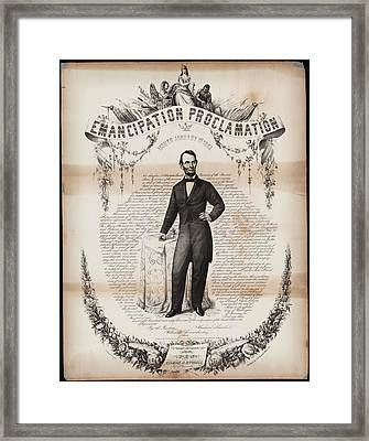 Emancipation Proclamation Framed Print by Celestial Images