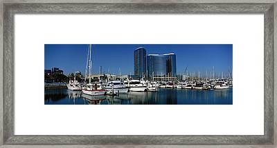Embarcadero Marina Hotel, San Diego Framed Print by Panoramic Images