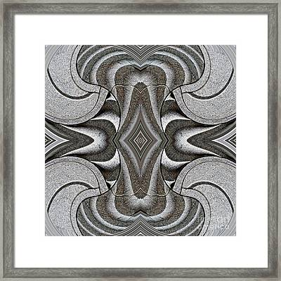 Embellishment In Concrete 2 Framed Print by Sarah Loft