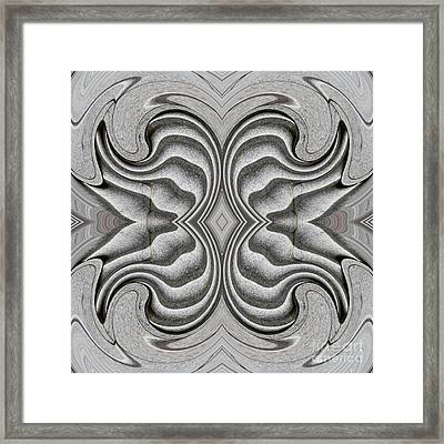 Embellishment In Concrete 3 Framed Print by Sarah Loft