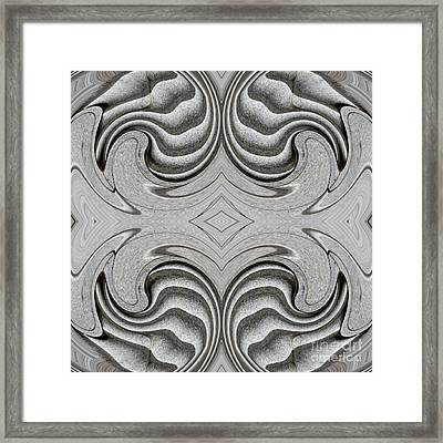 Embellishment In Concrete 4 Framed Print by Sarah Loft