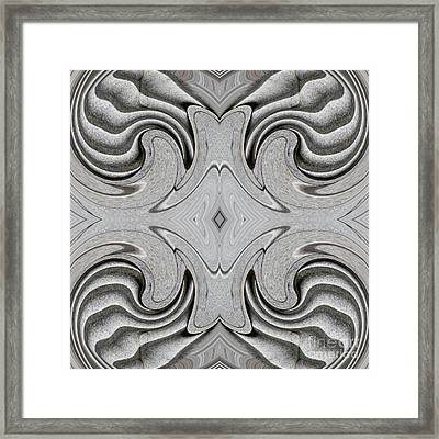 Embellishment In Concrete 6 Framed Print by Sarah Loft