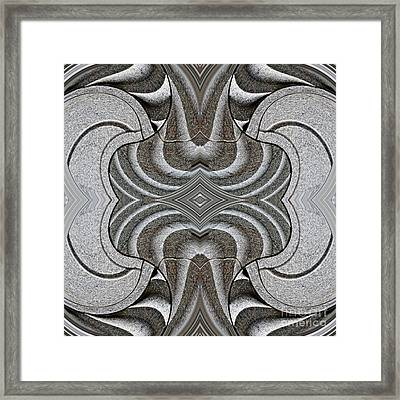 Embellishment In Concrete Framed Print by Sarah Loft