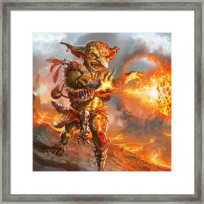 Embermage Goblin Framed Print by Ryan Barger