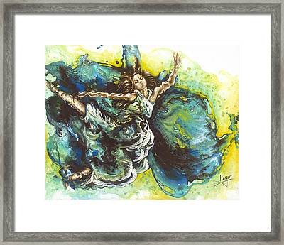 Embrace Framed Print by Karina Llergo