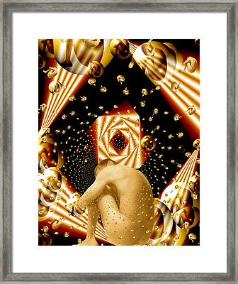 Embryonic Voyage Framed Print by Kurt Van Wagner