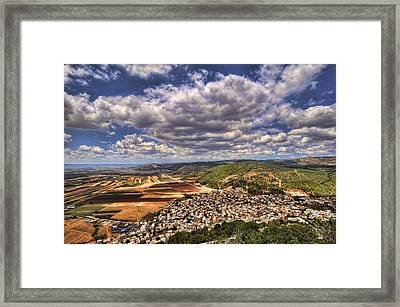 Emek Israel Framed Print by Ron Shoshani