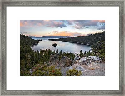 Emerald Bay Lake Tahoe Framed Print by Leland D Howard