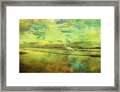 Emerald Evening Framed Print by Betsy C Knapp