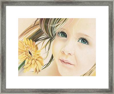 Emerald Eyes Framed Print by Natasha Denger